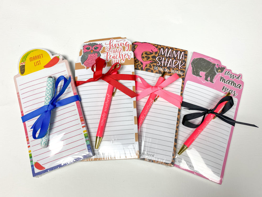 Simply Southern Notepad & Pen Sets