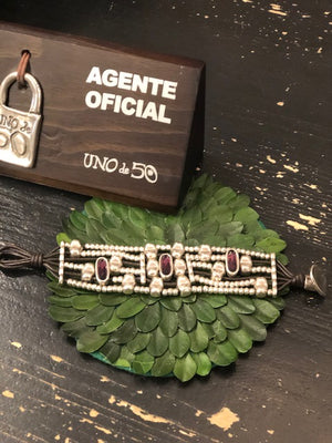 Load image into Gallery viewer, Uno de 50 Purple Amulet Bracelet