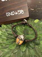 Uno de 50 Leather Scarab Bracelet