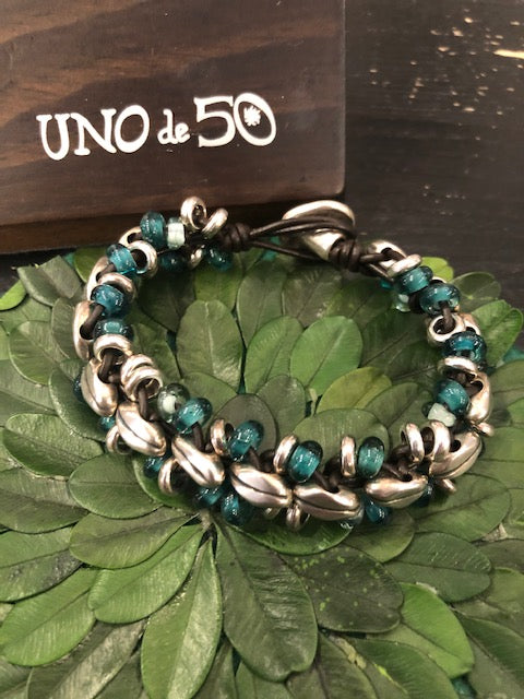 Uno de 50 Wheat All Around Bracelet