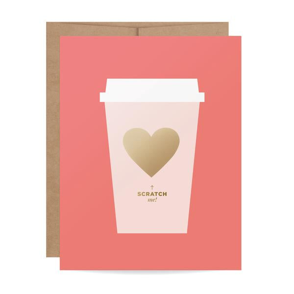 Coffee Love Scratch-off Card