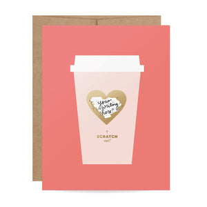 Load image into Gallery viewer, Coffee Love Scratch-off Card