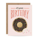 Birthday Donut Scratch-off Card