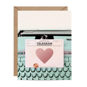 Load image into Gallery viewer, Typewriter Telegram Scratch-off Card
