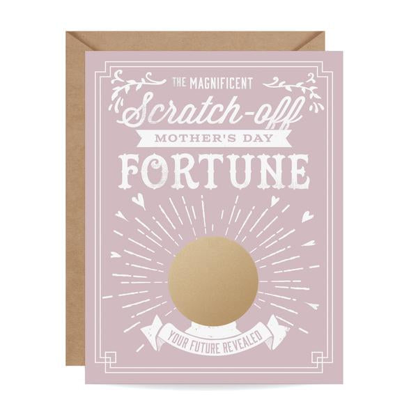 Mother's Day Fortune Scratch-off Card