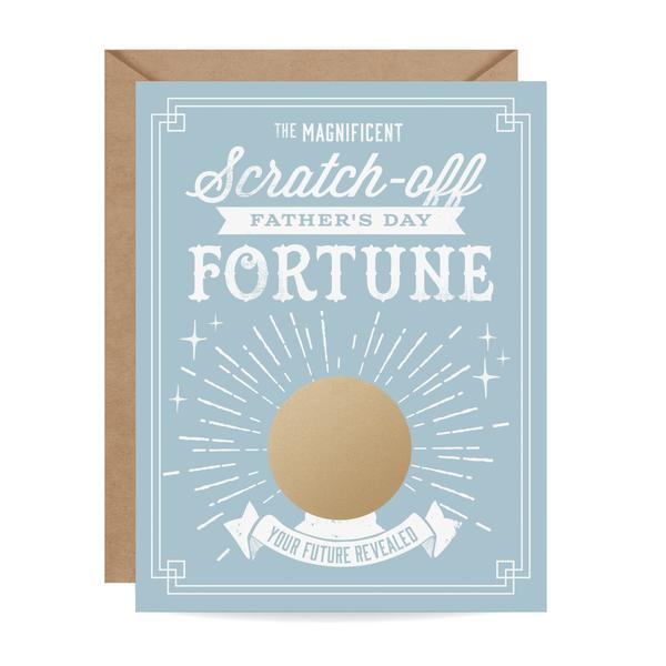Father's Day Fortune Scratch-off Card