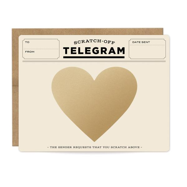 Load image into Gallery viewer, Classic Telegram Scratch-off Card