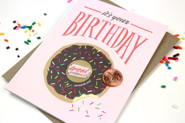 Load image into Gallery viewer, Birthday Donut Scratch-off Card