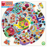 eeBoo Tea Party 500 Piece Round Puzzle