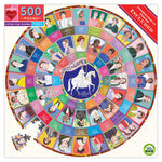 eeBoo Votes for Women 500 Piece Round Puzzle