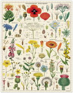 Cavallini & Co. Wildflowers 1000 Piece Vintage Puzzle
