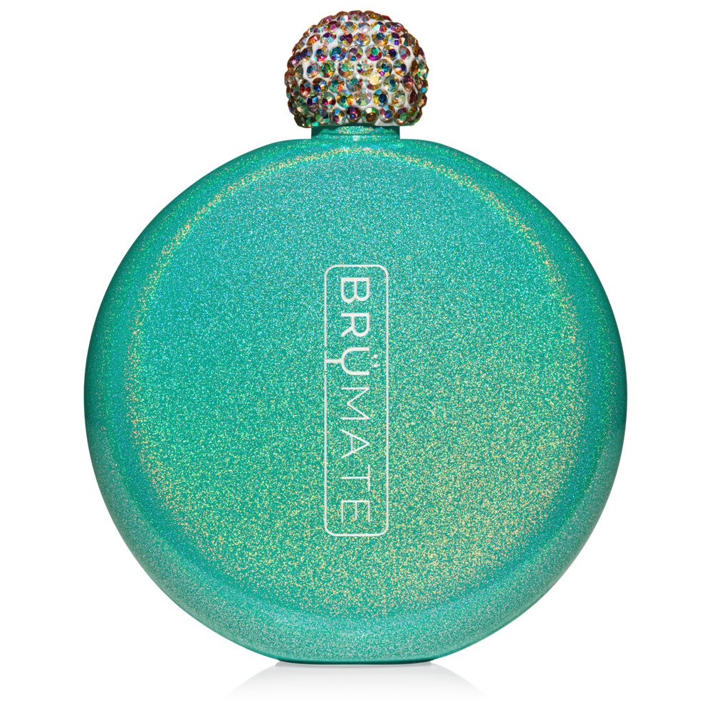 BrüMate 5oz Glitter Flask - Peacock