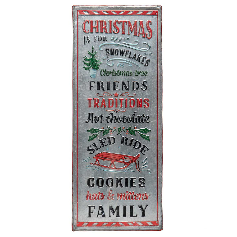 "27.5"" Metal Christmas Sign R7954 *Pickup only*"