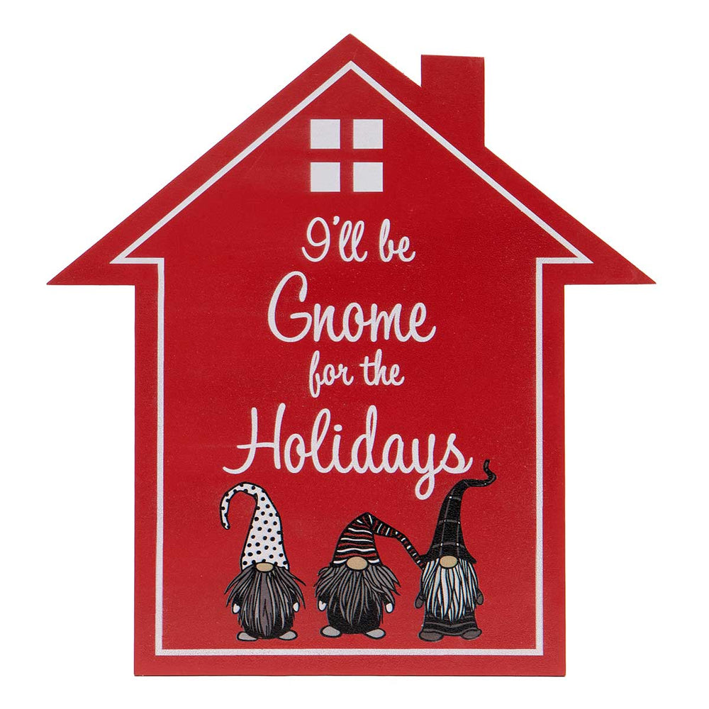 Gnome for the Holidays Wood Sign