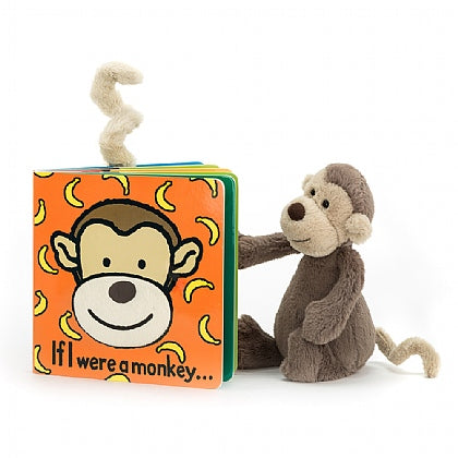 "Jellycat ""If I Were a Monkey"" Board Book"