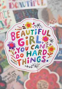 Natural Life You can do Hard Things Vinyl Sticker