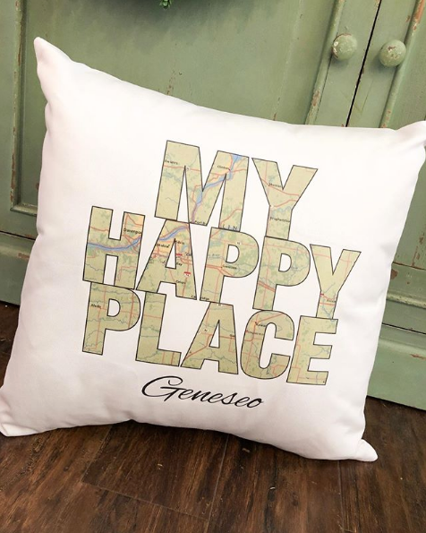 My Happy Place Geneseo Pillow