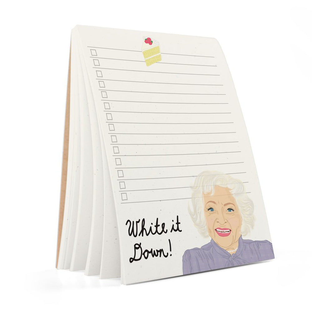 Betty White Notepad