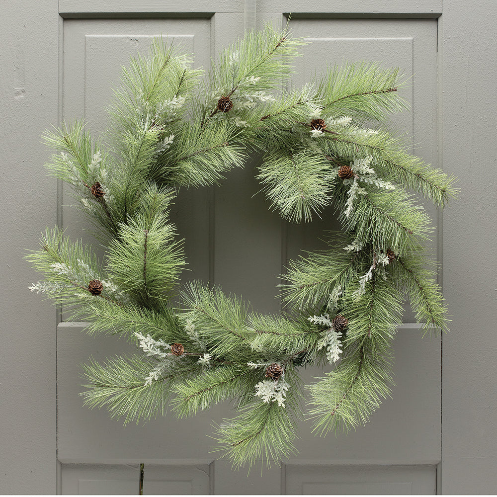 Pine Wreath with Mini Pinecones V4590