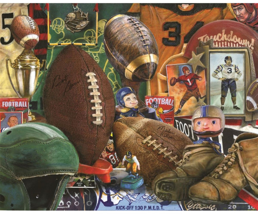 Load image into Gallery viewer, Springbok Vintage Football 1000 Piece Puzzle