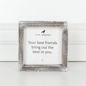 Your Best Friends Framed Sign 10680