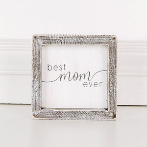 Load image into Gallery viewer, Best Mom Ever Framed Sign 17600