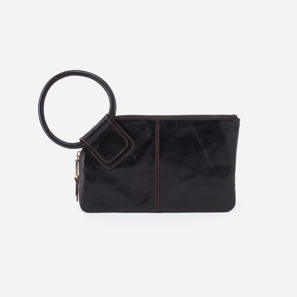 Hobo Sable Wristlet Clutch in Black