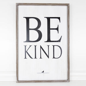 Load image into Gallery viewer, Be Kind Framed Sign 10833 *Pick up only*