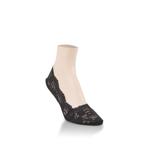 World's Softest Socks Black Lacey Footie *BEST SELLER!*