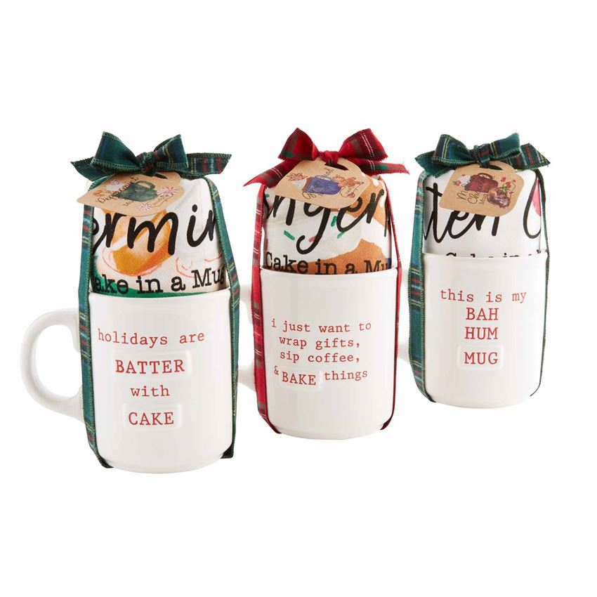 Mud Pie Holiday Cake in Mug Sets