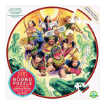 eeBoo Goddesses and Warriors 500 Piece Round Puzzle