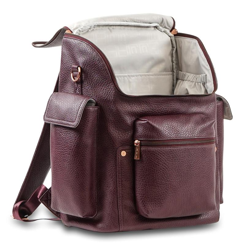 Load image into Gallery viewer, JuJuBe Forever Backpack Diaper Bag - Plum