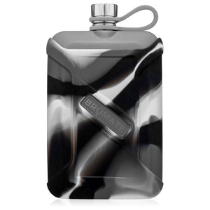 Load image into Gallery viewer, BrüMate 8oz Liquor Canteen - Gray Camo Swirl/Matte Gray