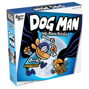 Dog Man and Cat Kid 100 Piece Puzzle