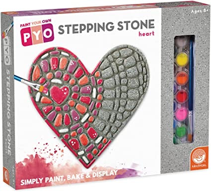 Paint Your Own Stepping Stone: Heart