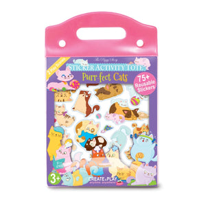 Purr-fect Cat Sticker Activity Tote