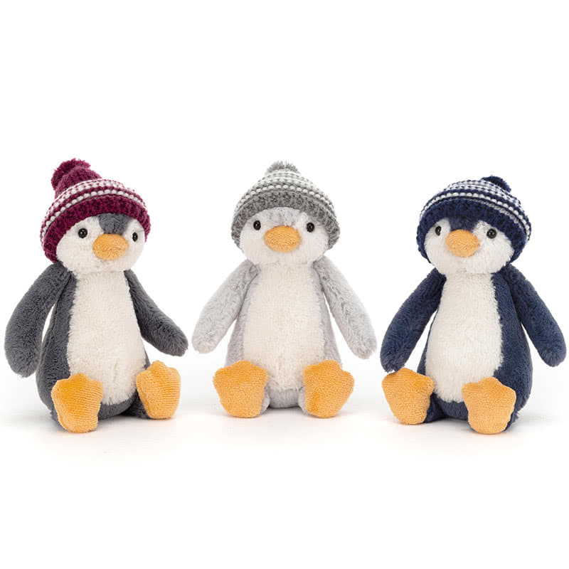 Jellycat Bashful Bobble Hat Penguins