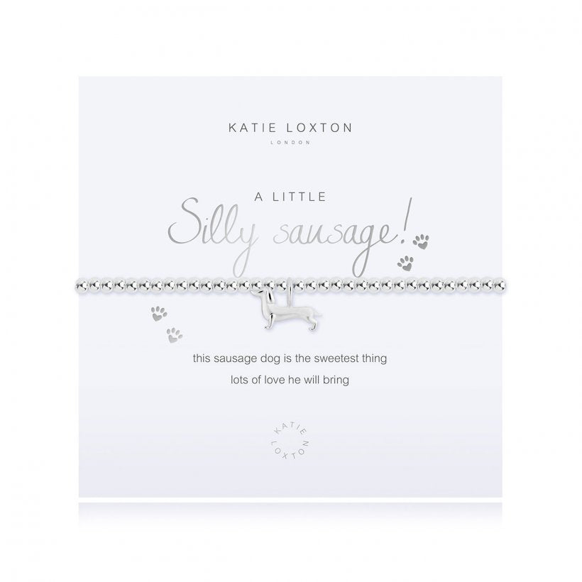Load image into Gallery viewer, KLJ372 Katie Loxton A Little Silly Sausage Bracelet