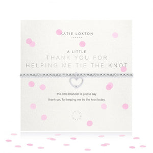KLJ3485  Katie Loxton A Little Thanks for Helping Me Tie the Knot Bracelet
