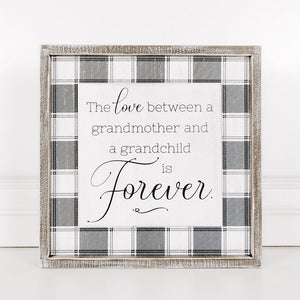 Love Between Grandmother and Grandchild Framed Sign