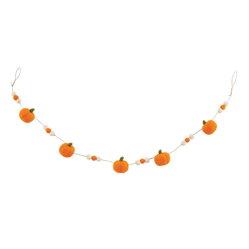 Mud Pie Felt Pumpkin Garland