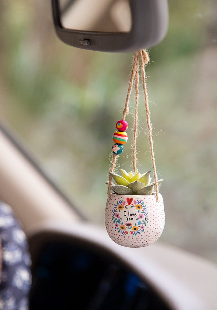 Natural Life Mini Hanging Faux Succulents