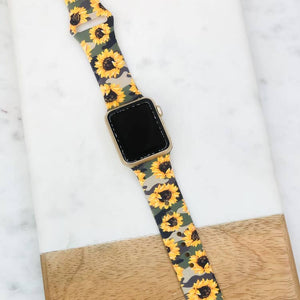 Sunflower Camo Silicone Watch Band