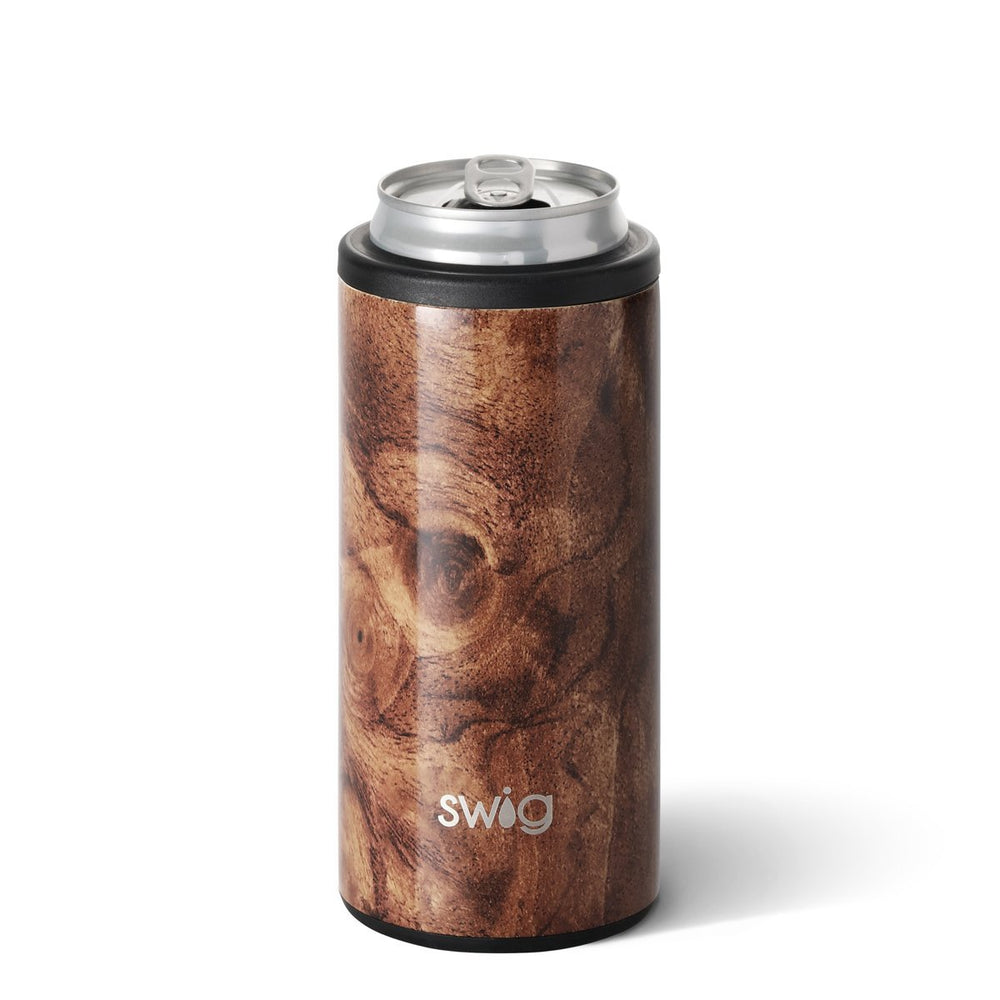 Swig 12oz Skinny Can Cooler - Black Walnut