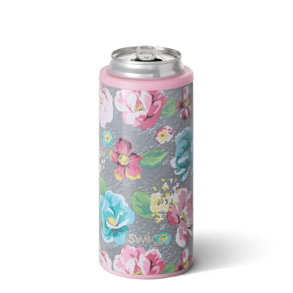 Swig 12oz Skinny Can Cooler - Garden Party
