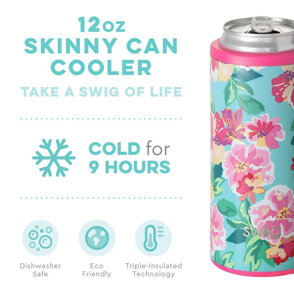 Swig 12oz Skinny Can Cooler - Island Bloom