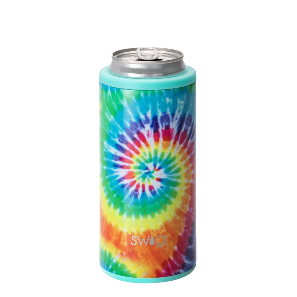 Load image into Gallery viewer, Swig 12oz Skinny Can Cooler - Swirled Peace