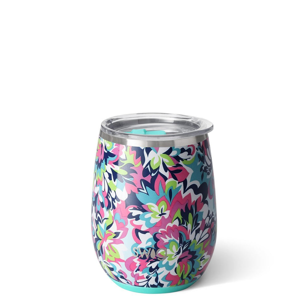 Swig 14oz Stemless Wine Cup - Frilly Lilly