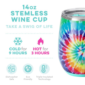 Load image into Gallery viewer, Swig 14oz Stemless Wine Cup - Swirled Peace