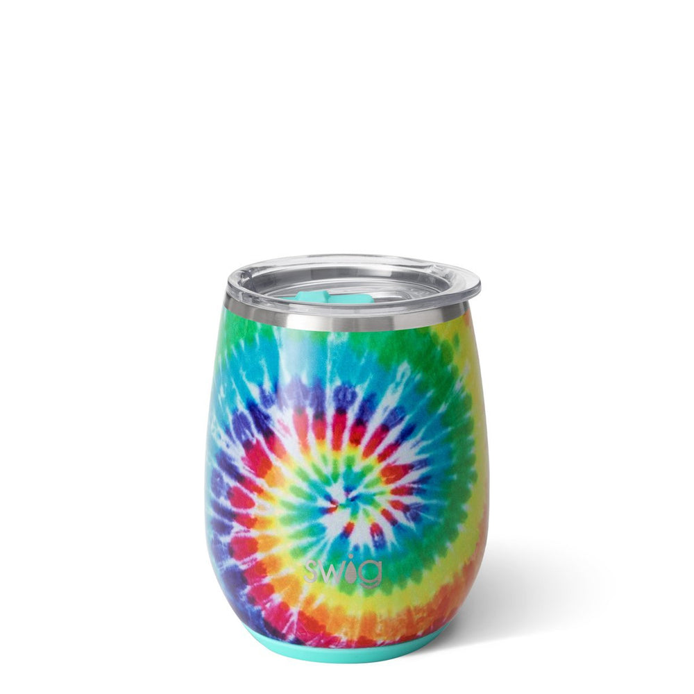 Swig 14oz Stemless Wine Cup - Swirled Peace